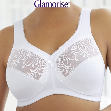glamorise 1016 bra white small